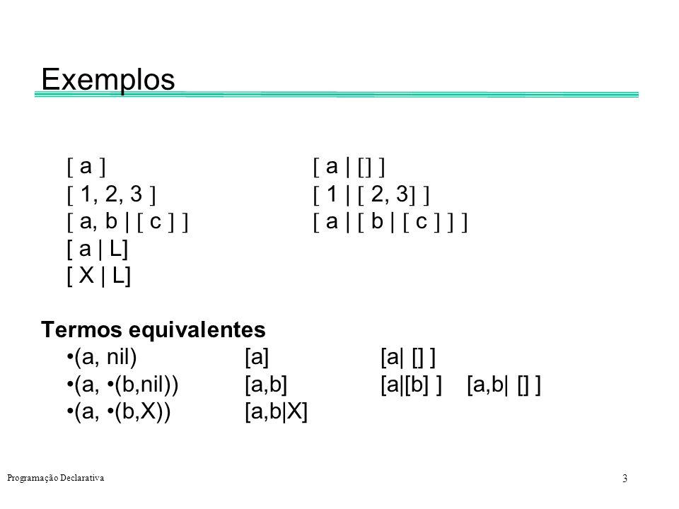 Exemplos  a   a |    1, 2, 3   1 |  2, 3 
