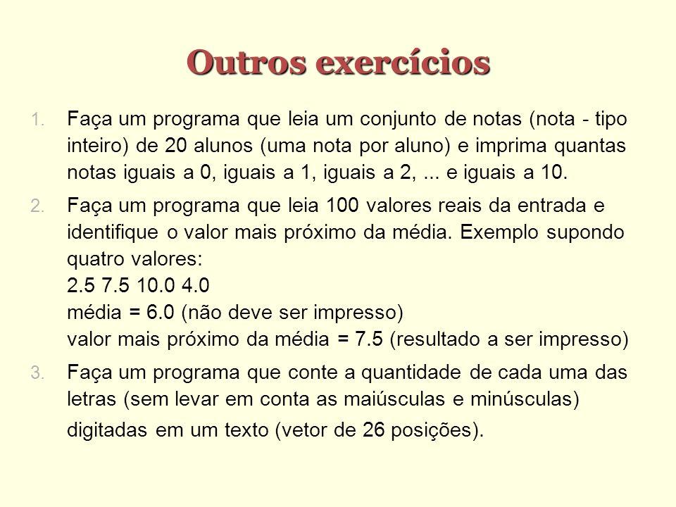 Outros exercícios