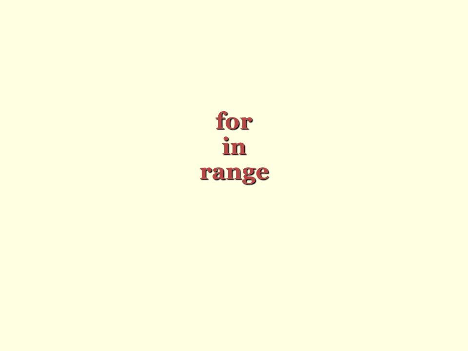 for in range