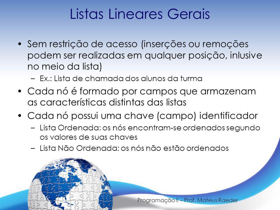 Listas Lineares Gerais