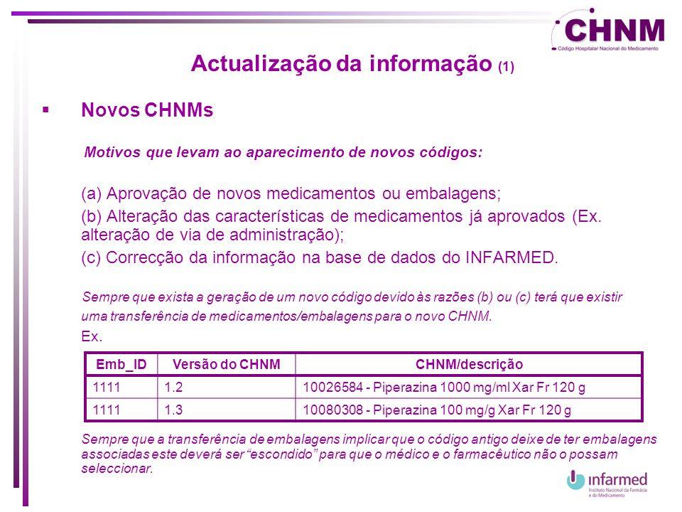 Actualização da informação (1)