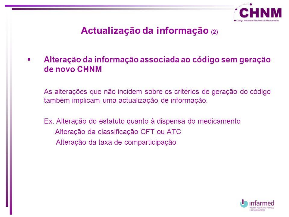 Actualização da informação (2)