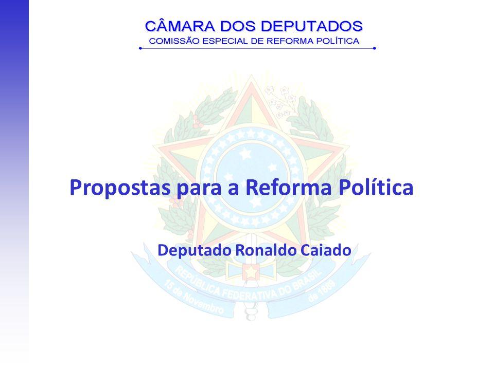 Propostas para a Reforma Política Deputado Ronaldo Caiado