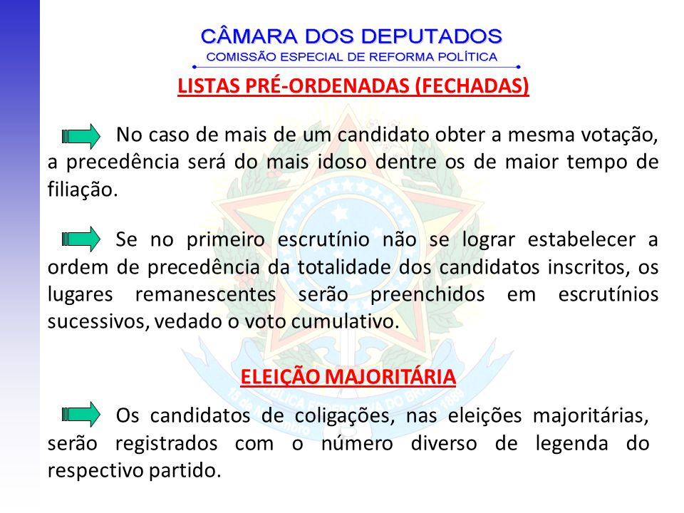 LISTAS PRÉ-ORDENADAS (FECHADAS)