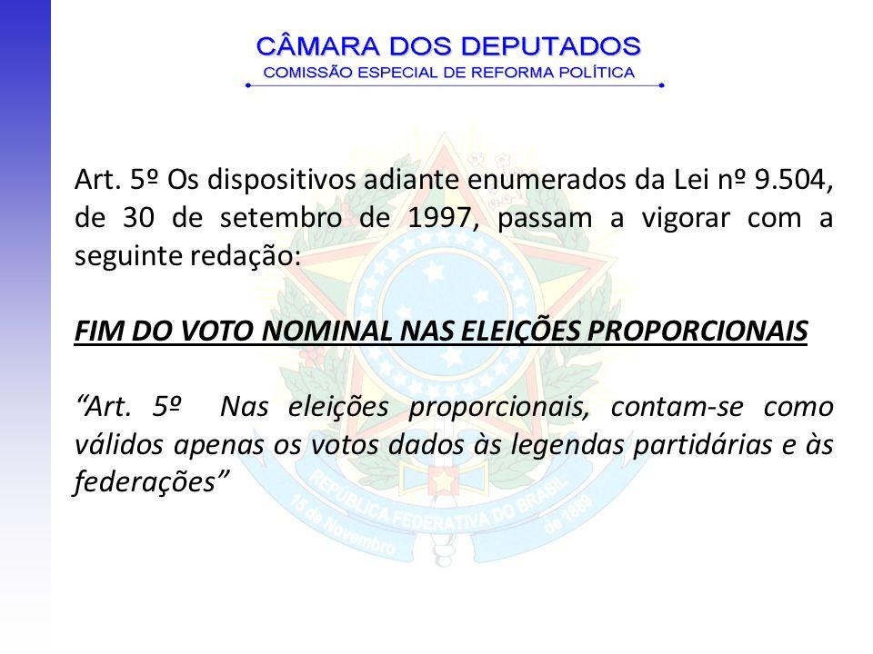 Art. 5º Os dispositivos adiante enumerados da Lei nº 9