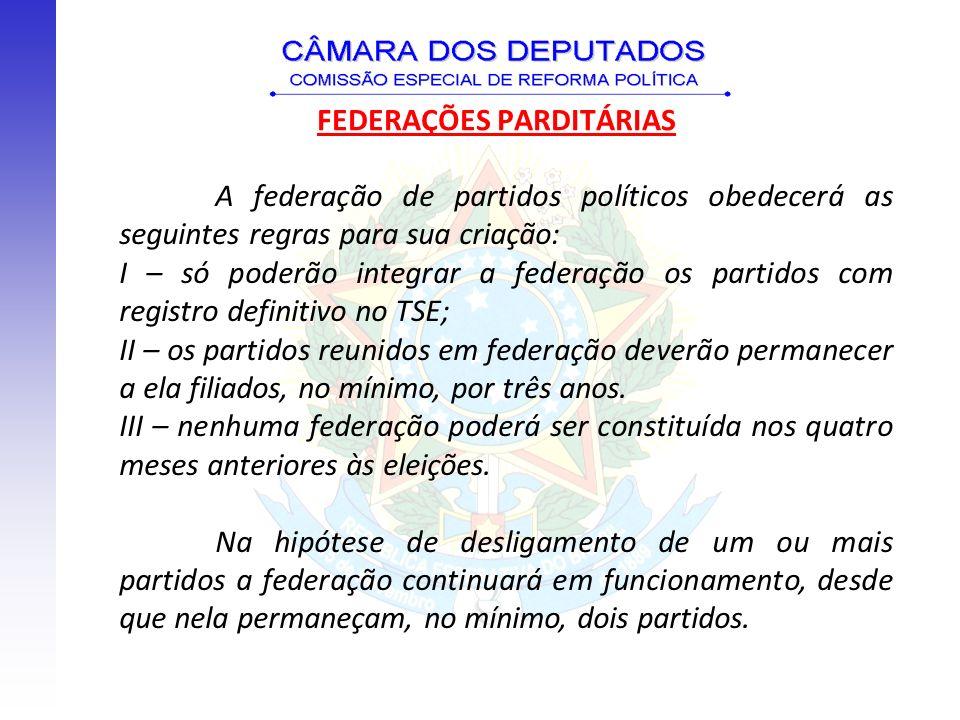 FEDERAÇÕES PARDITÁRIAS