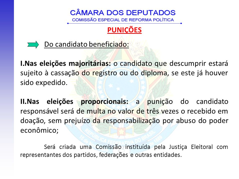 Do candidato beneficiado: