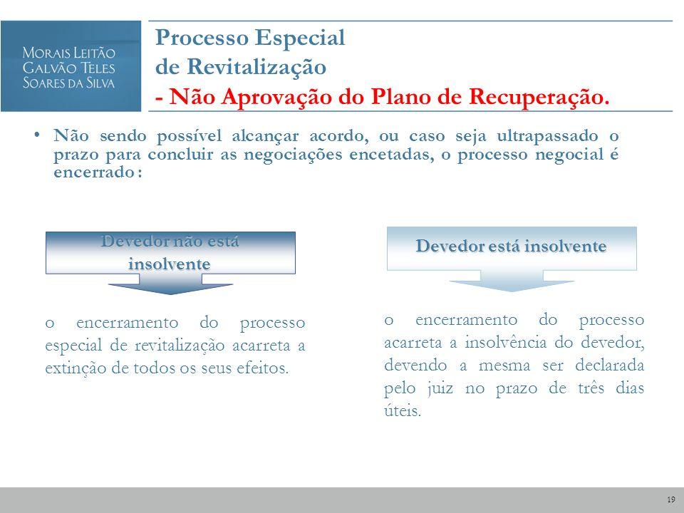 Devedor não está insolvente Devedor está insolvente