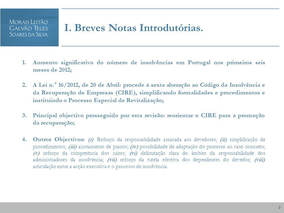 I. Breves Notas Introdutórias.