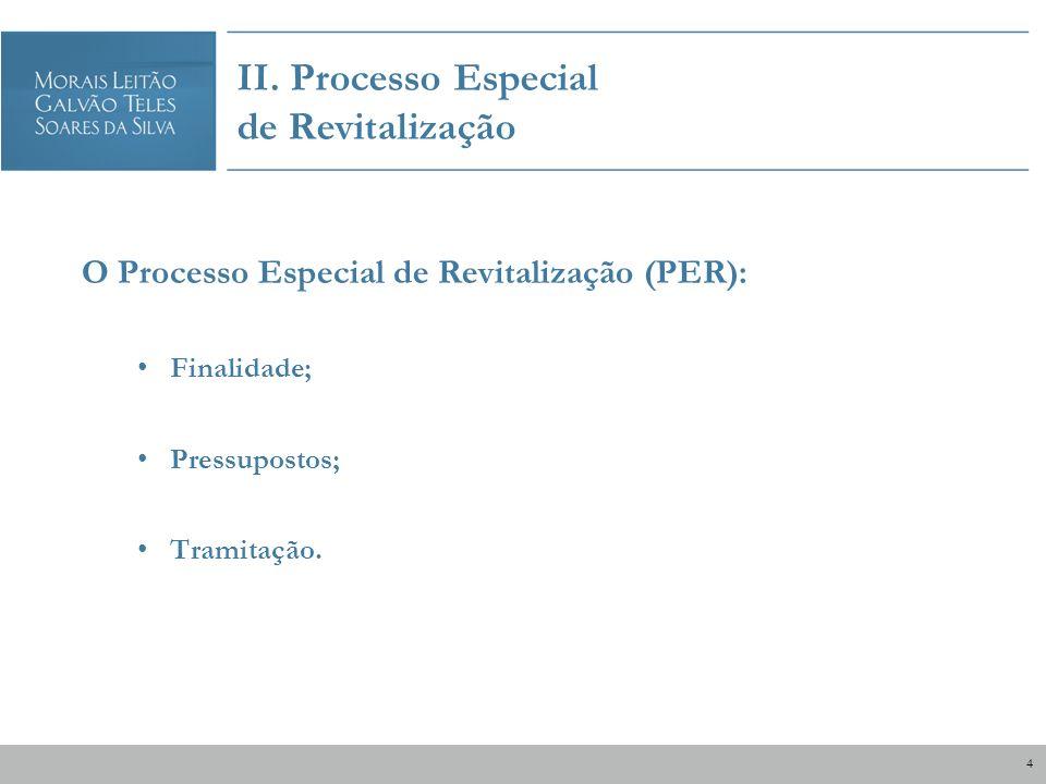 II. Processo Especial de Revitalização