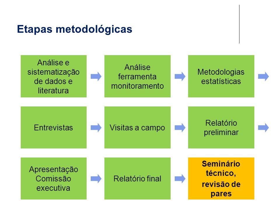 Etapas metodológicas Análise e sistematização de dados e literatura