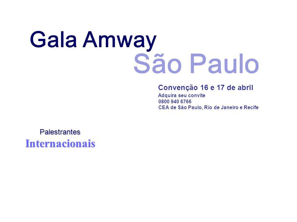 São Paulo Gala Amway Internacionais Palestrantes