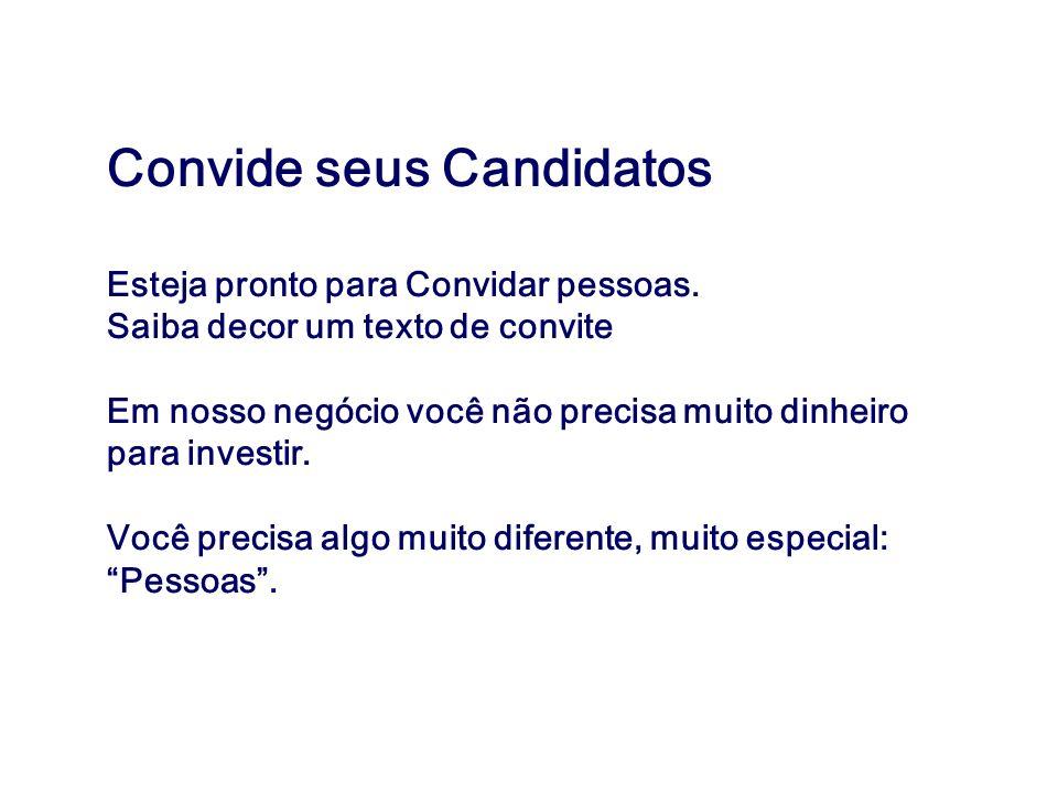 Convide seus Candidatos
