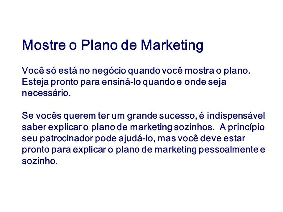 Mostre o Plano de Marketing