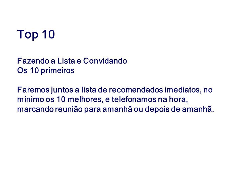Top 10 Fazendo a Lista e Convidando Os 10 primeiros