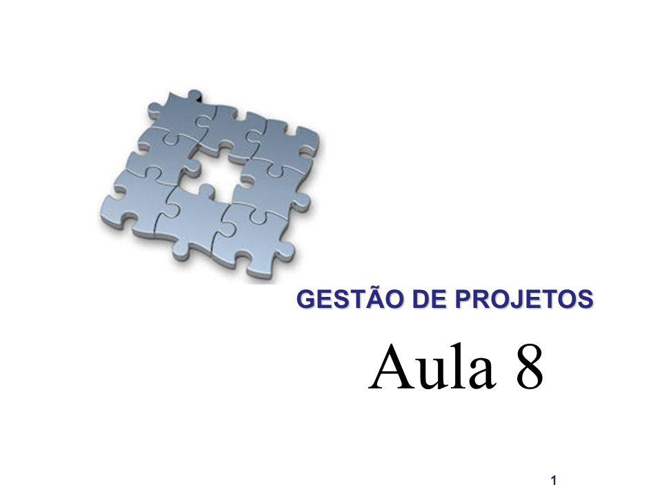 GESTÃO DE PROJETOS Aula 8 1