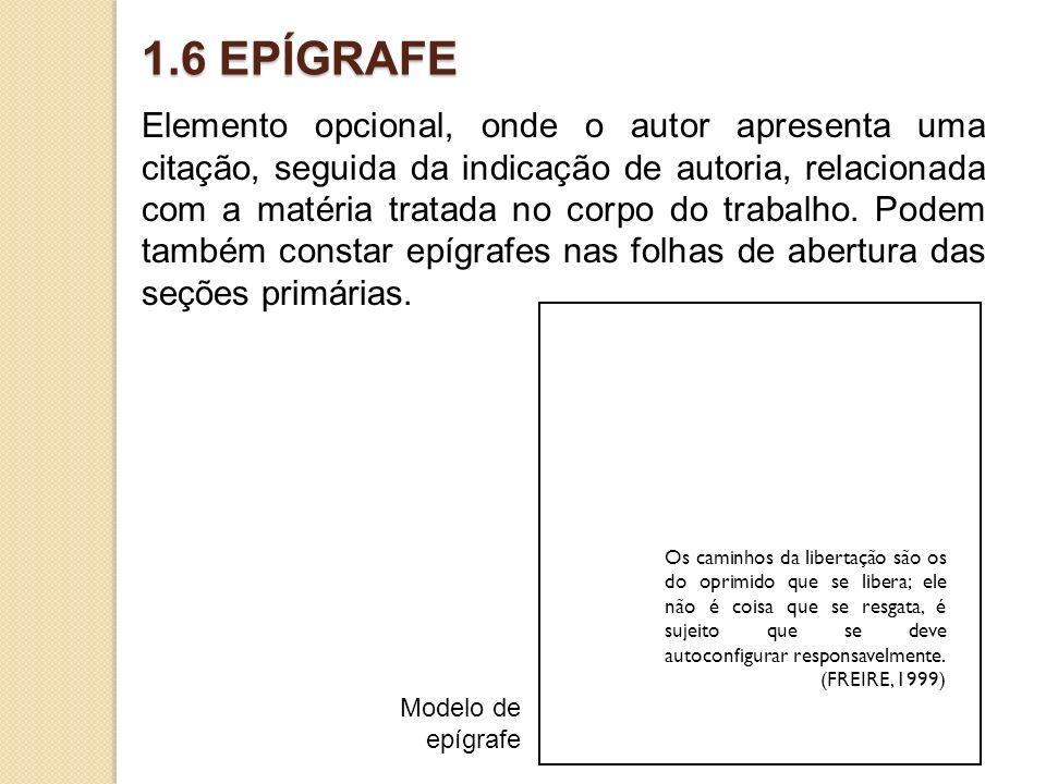 1.6 EPÍGRAFE