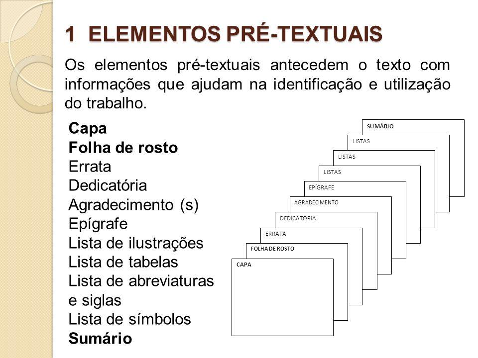 1 ELEMENTOS PRÉ-TEXTUAIS