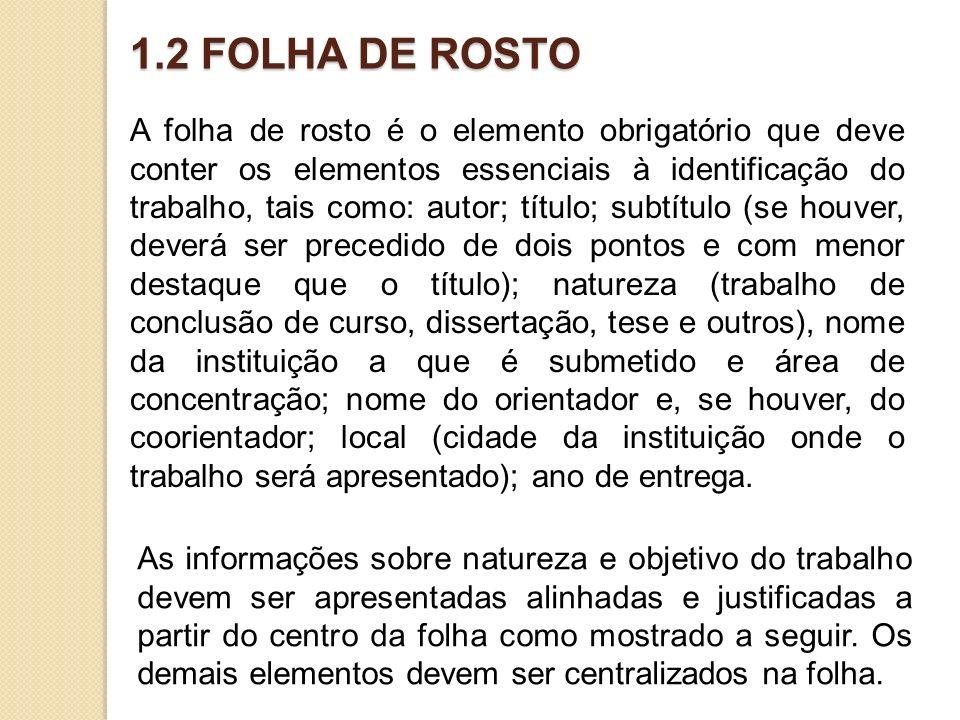 1.2 FOLHA DE ROSTO