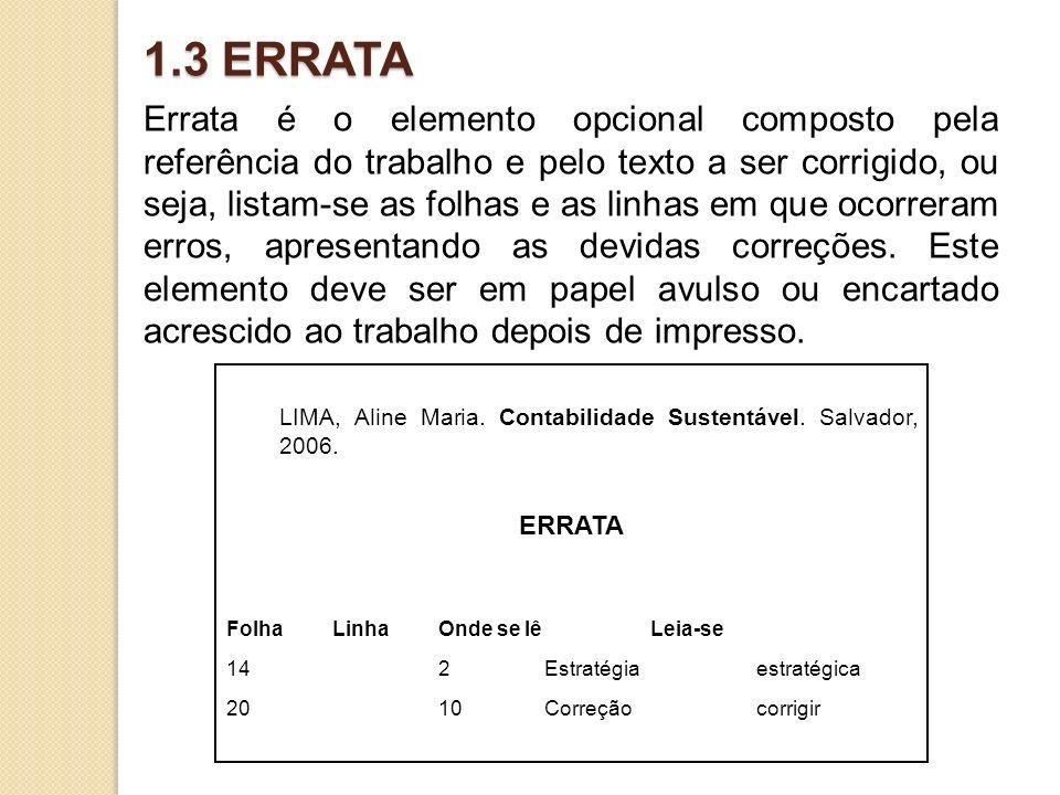 1.3 ERRATA