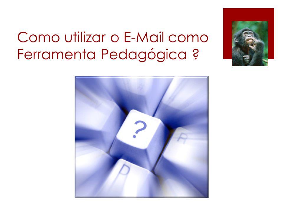 Como utilizar o E-Mail como Ferramenta Pedagógica