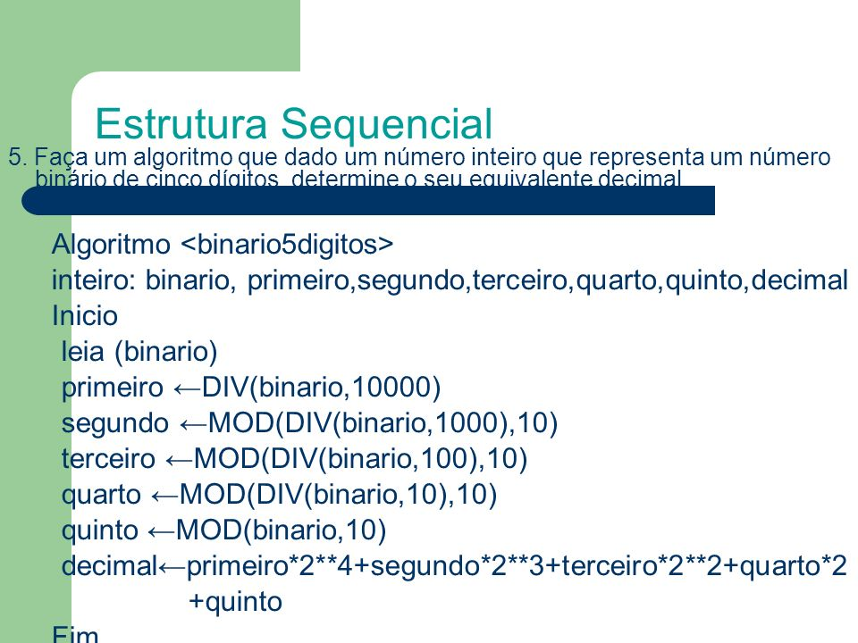 Estrutura Sequencial
