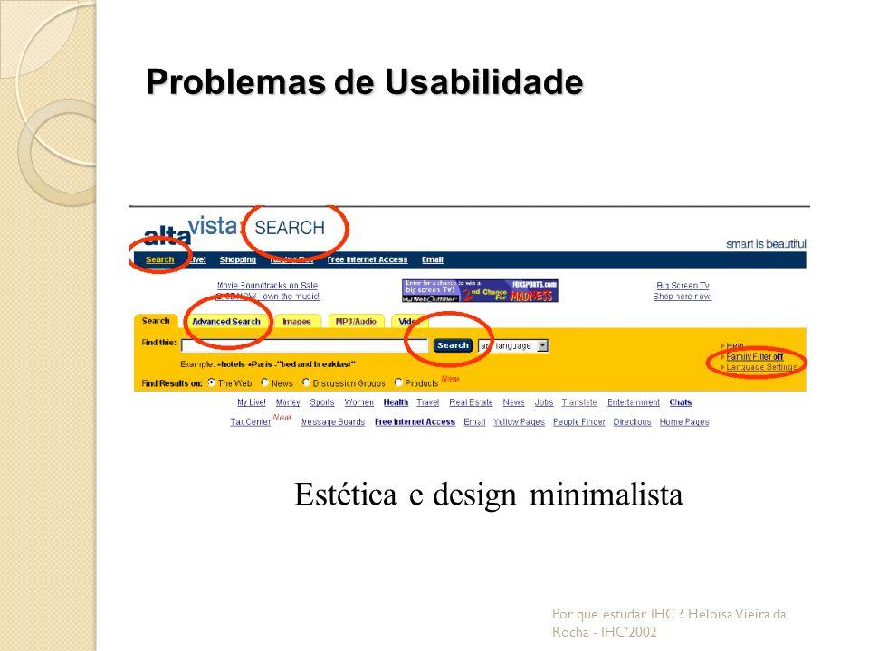 Problemas de Usabilidade