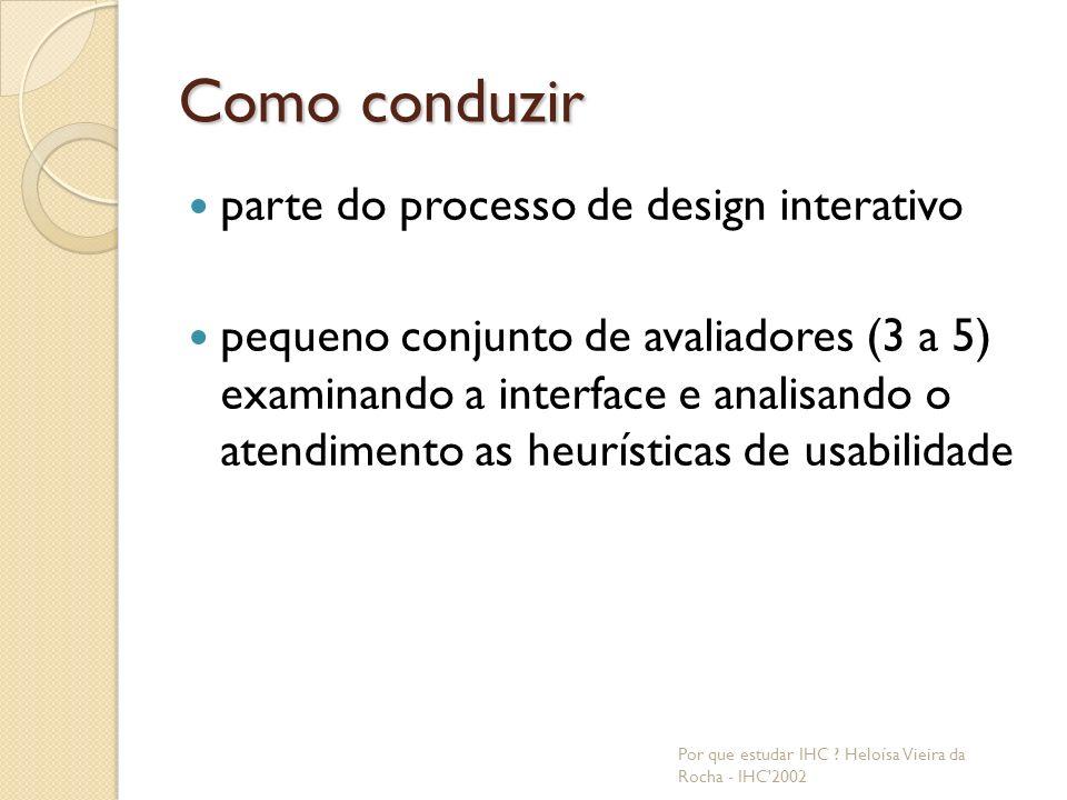 Como conduzir parte do processo de design interativo