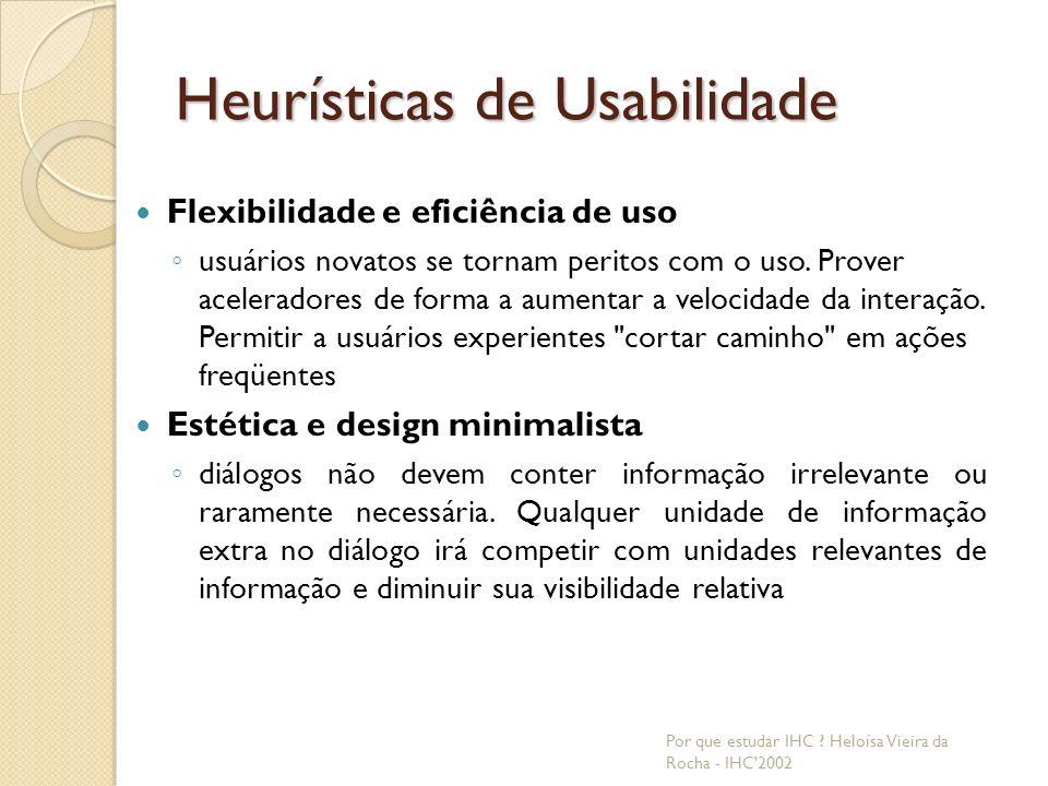 Heurísticas de Usabilidade