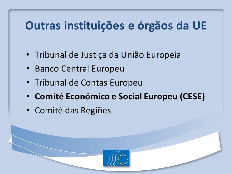 Outras instituições e órgãos da UE
