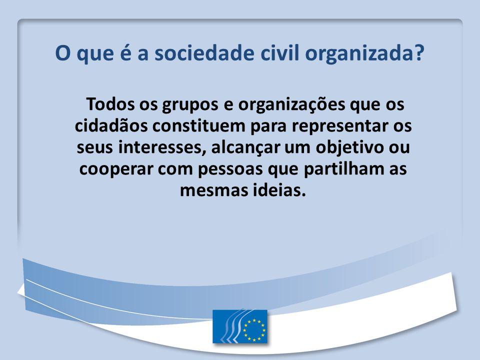 O que é a sociedade civil organizada
