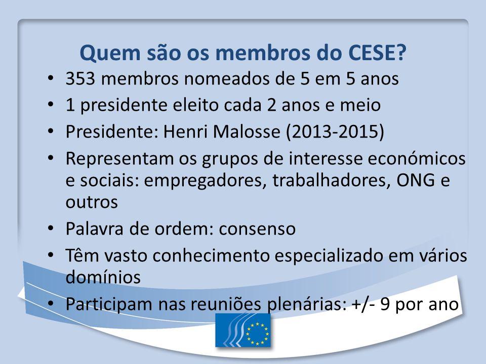 Quem são os membros do CESE