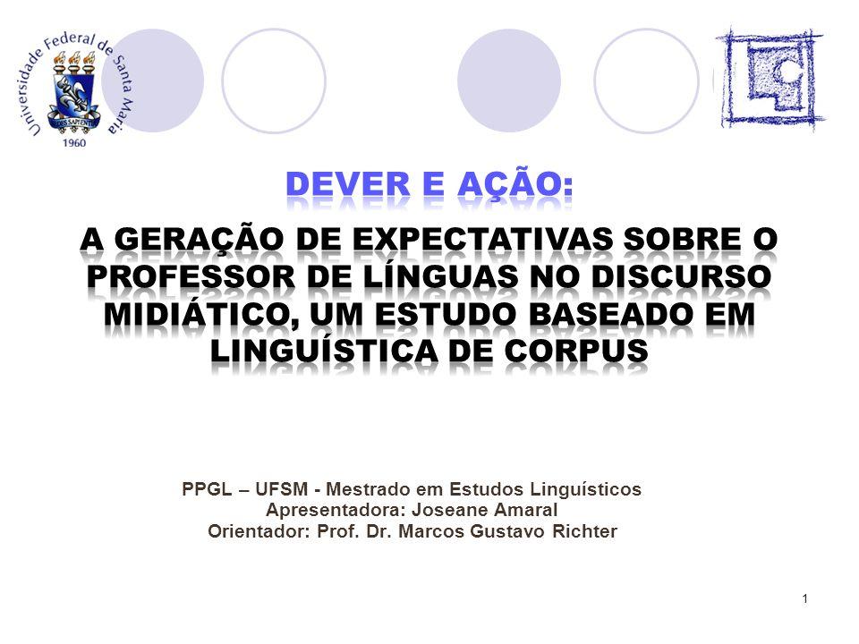 DEVER E AÇÃO: A GERAÇÃO DE EXPECTATIVAS SOBRE O PROFESSOR DE LÍNGUAS NO DISCURSO MIDIÁTICO, UM ESTUDO BASEADO EM LINGUÍSTICA DE CORPUS