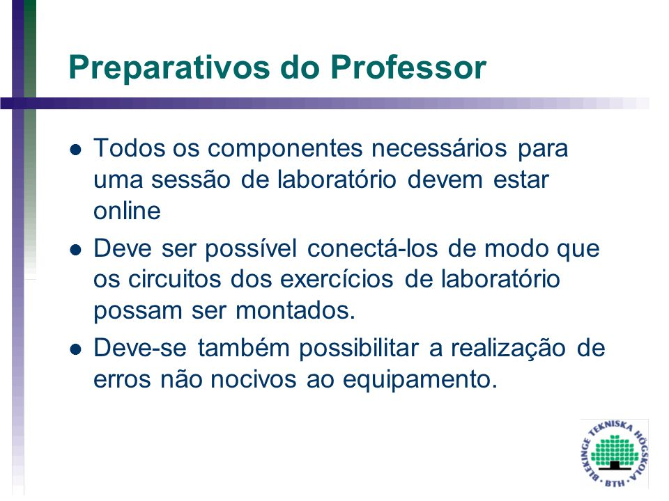 Preparativos do Professor