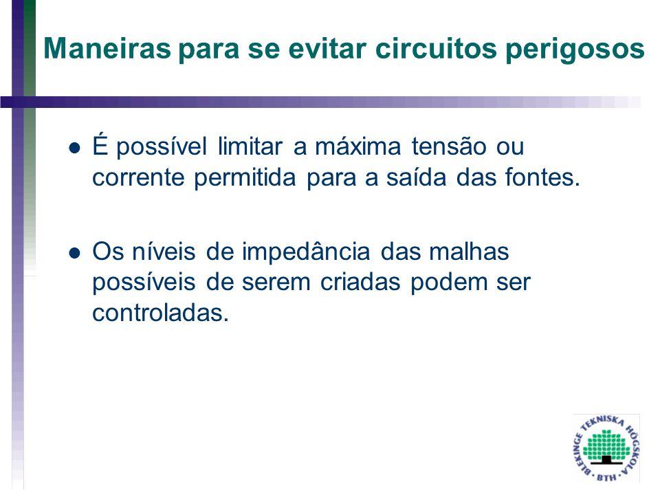 Maneiras para se evitar circuitos perigosos