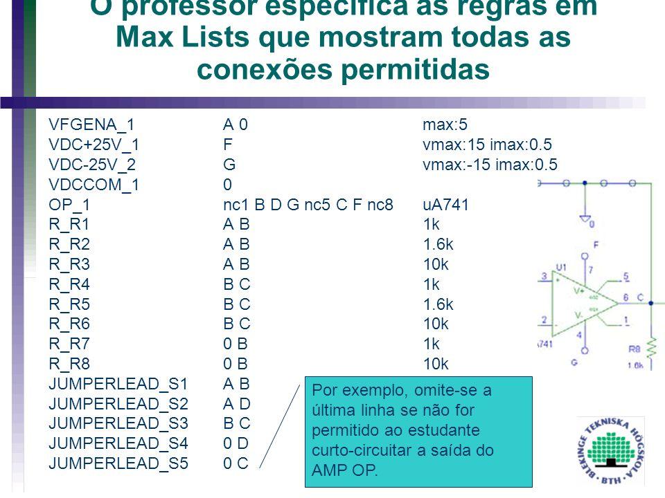 2017-03-30 20:35 O professor especifica as regras em Max Lists que mostram todas as conexões permitidas.