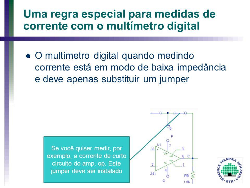 Uma regra especial para medidas de corrente com o multímetro digital