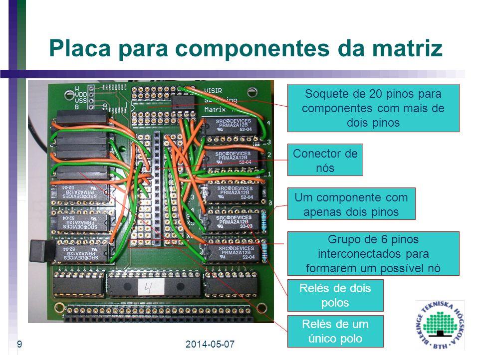 Placa para componentes da matriz