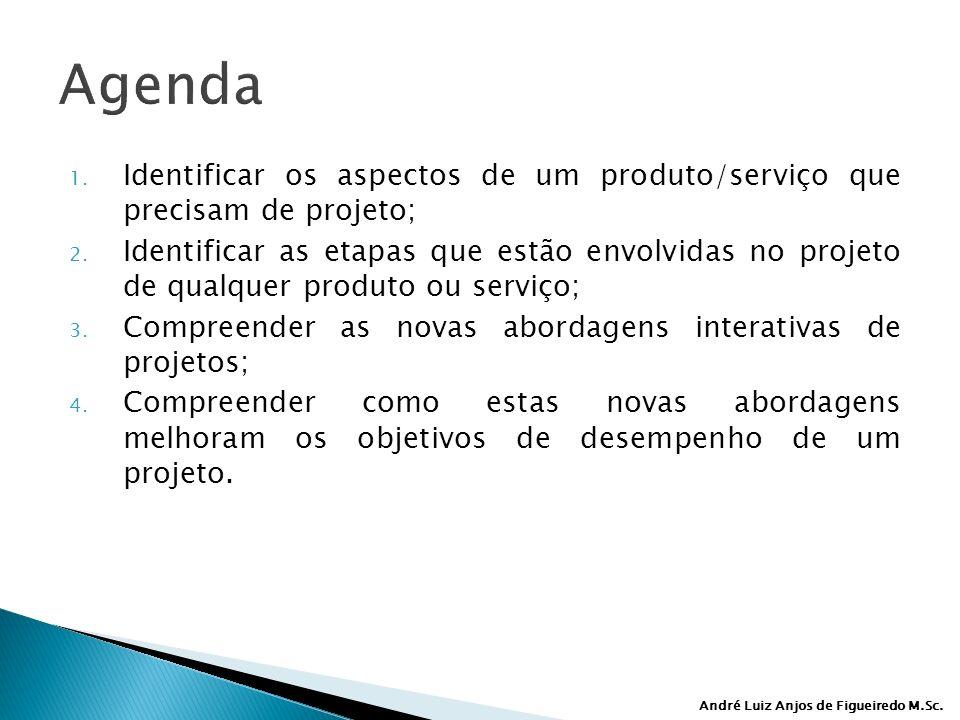Agenda Identificar os aspectos de um produto/serviço que precisam de projeto;