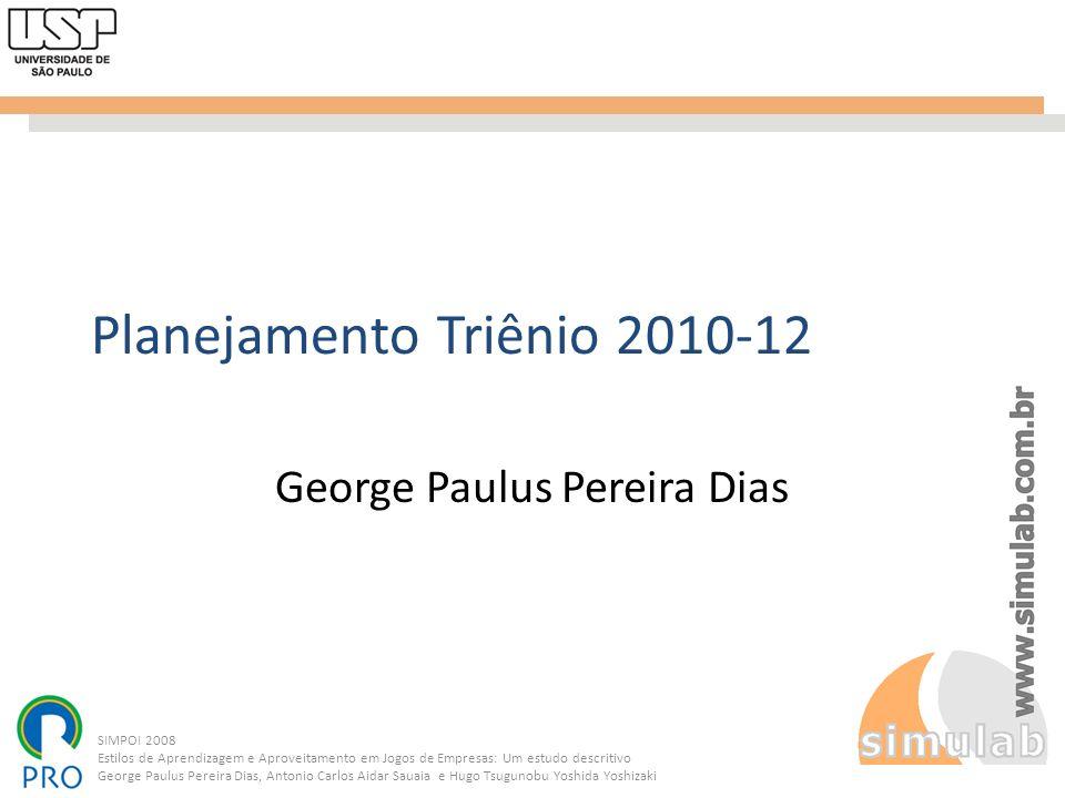 Planejamento Triênio 2010-12