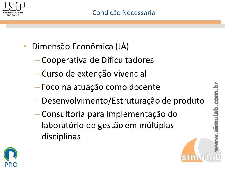 Dimensão Econômica (JÁ) Cooperativa de Dificultadores