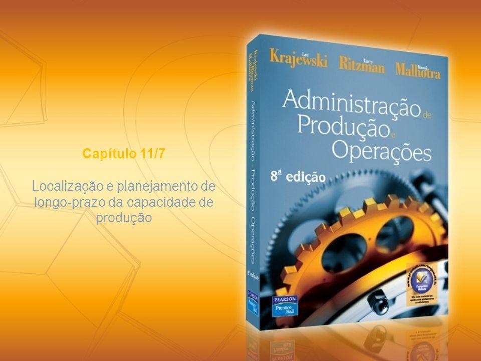 Localização e planejamento de longo-prazo da capacidade de produção