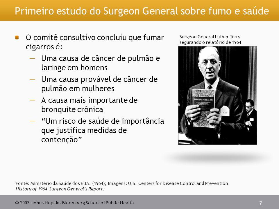 Primeiro estudo do Surgeon General sobre fumo e saúde