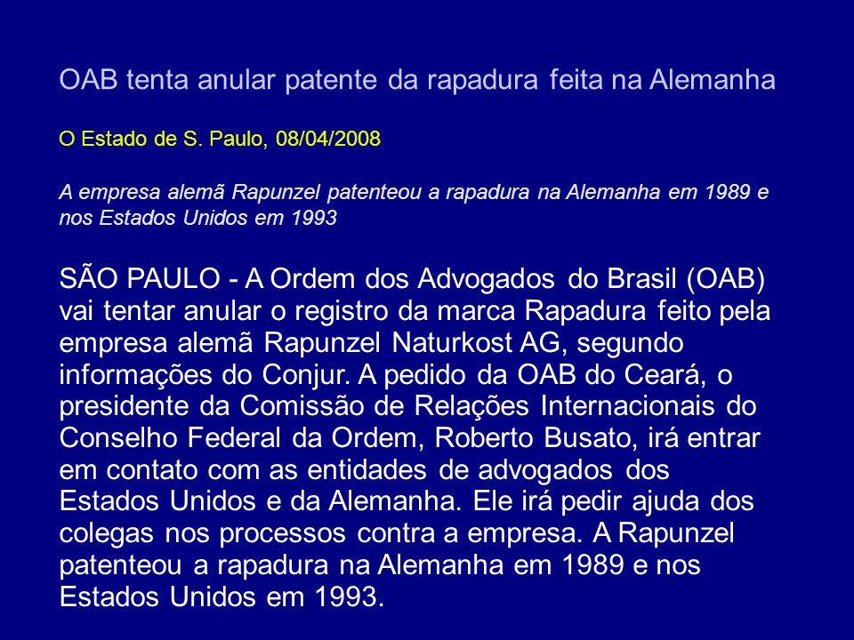 OAB tenta anular patente da rapadura feita na Alemanha
