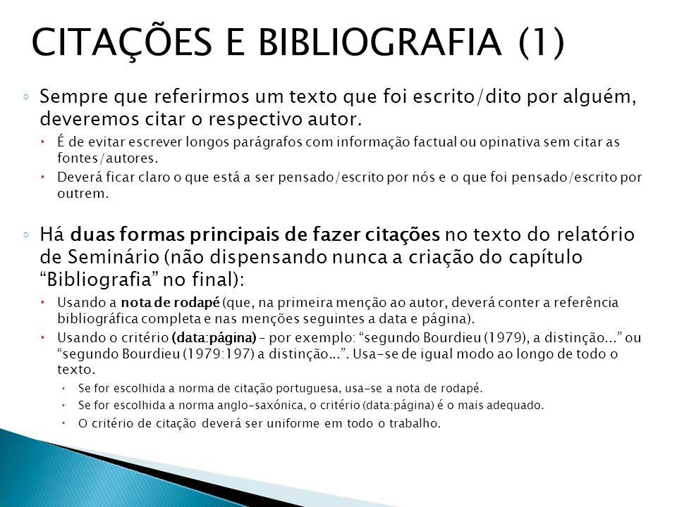CITAÇÕES E BIBLIOGRAFIA (1)