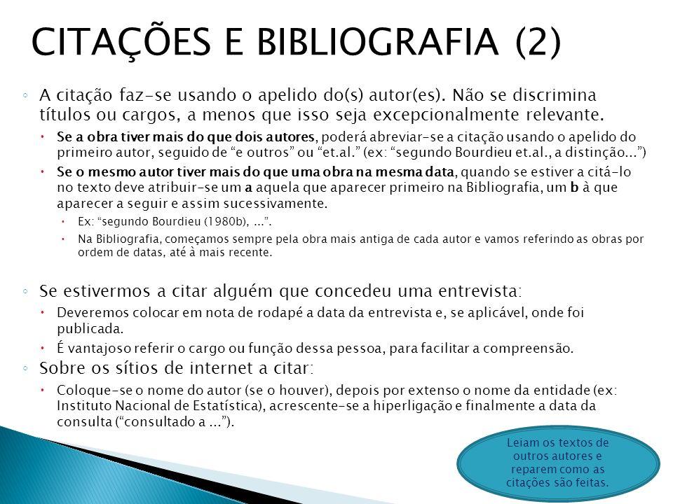 CITAÇÕES E BIBLIOGRAFIA (2)