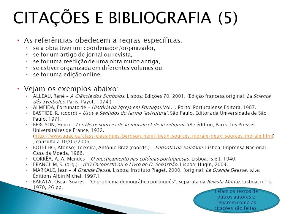 CITAÇÕES E BIBLIOGRAFIA (5)