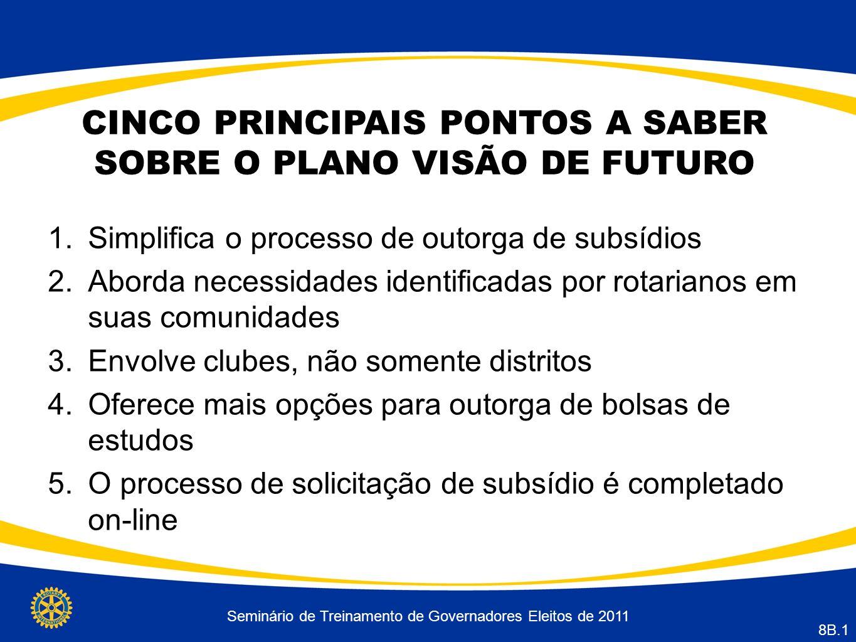 CINCO PRINCIPAIS PONTOS A SABER SOBRE O PLANO VISÃO DE FUTURO