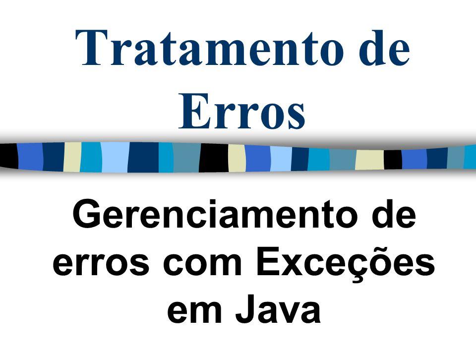 Gerenciamento de erros com Exceções em Java