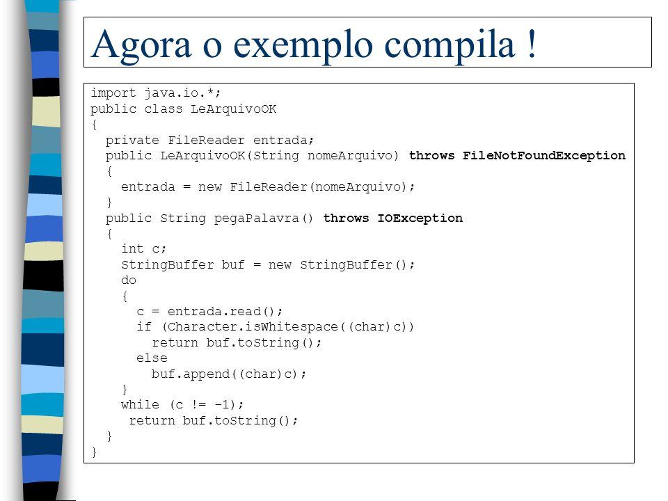 Agora o exemplo compila !